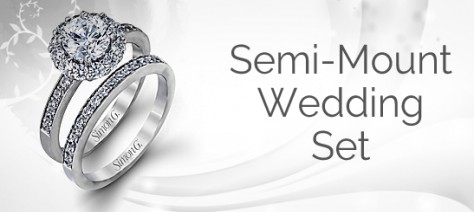 Diamond Semi Mount Wedding Sets