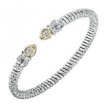 Two-tone Diamond Bangle Bracelet