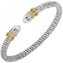 Two-tone Cuff Bangle Bracelet
