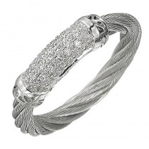 Lady's White-18Kt White Gold Fashion Ring