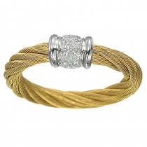 Lady's Yellow-18Kt White Gold Ring