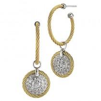 Lady's Stainless-18K Earrings
