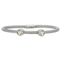 Lady's Two-Tone Ss-18K Bracelet