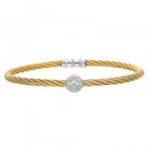 Lady's Two-Tone Ss-18K Bangle Bracelet