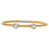 Lady's Two-Toned Ss-18K Bracelet