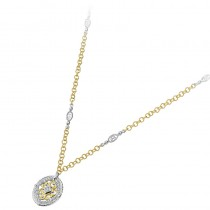 Lady's Two-Tone 18 Kt Necklace