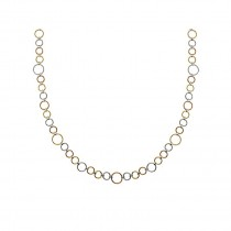 Grey Yellow and Rose SS-18Kt Circle Chain