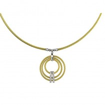 Lady's Two-Toned Stainless-18K Necklace