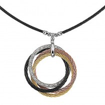 Lady's Tri Color Necklace