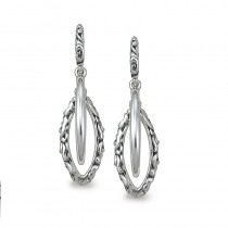 Lady's Sterling Silver-14Kw 25Mm Earrings