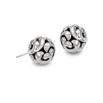 Lady's Sterling Silver 9Mm Stud Earrings