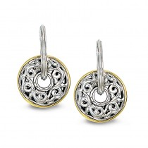 Lady's Sterling Silver-14Kt-18Kt Circle Earrings