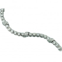 Lady's 18 Karat White and Platinum Bracelet Length 7 with 6.25ctw Round Diamonds