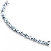 Lady's Platinum Half-Bezel Set Bracelet with 10.25ctw Round Diamonds