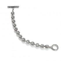 Sterling Silver 11mm Ivy Beads Bracelet