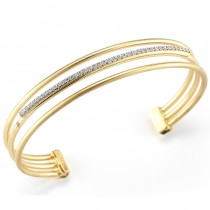 Lady's Two-Tone 14 Karat Bracelet