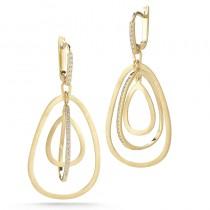Lady's Yellow 14 Karat Earrings