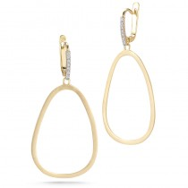 Lady's Yellow 14 Karat Gallery Earrings