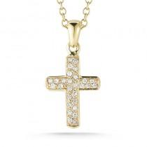 Lady's Yellow 14 Karat Cross Pendant