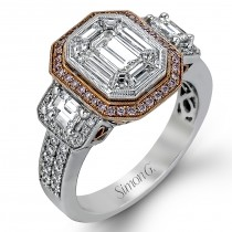 Lady's two-Tone 18 Karat Engagement Ring