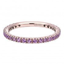 Lady's Ros 14 Karat Fashion Ring With Round Pink Sapphires
