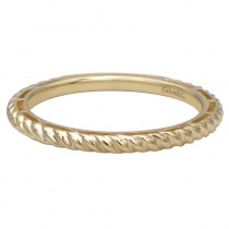 Lady's Yellow 14 Karat Stackable Band Fashion Ring