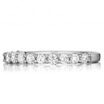 Lady's White 14 Karat Wedding Band With 0.65Tw Round Diamonds