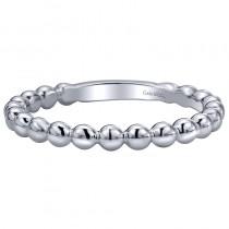 Lady's White 14 Karat Fashion Ring