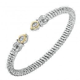Two-tone Diamond Bangle Bracelet