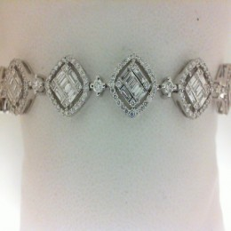 Two-tone Diamond Cuff Bracelet