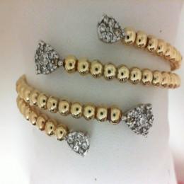 Two-tone Diamond Cuff Bracelet