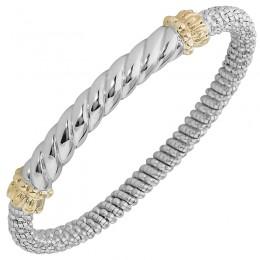Two-tone Bangle Bracelet