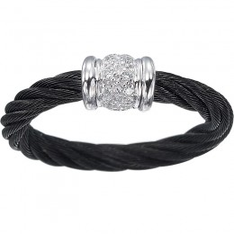 Cable-18Kt White Gold Fashion Ring