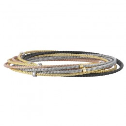 Multi 18K- Ss Cbl Bangle Length 8