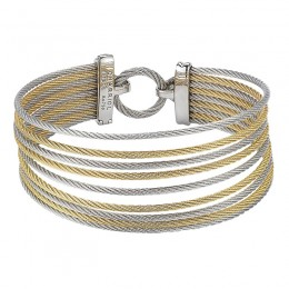 Two-Toned 18K Wg-Ss Mult Color bracelet