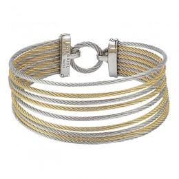 Two-Toned 18K Wg-Ss Mult Color bracelet