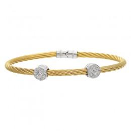 Ladys Two-Tone SS-18kt Bangle Bracelet