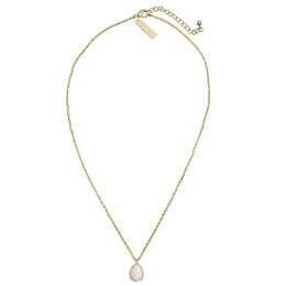 Ladys Yellow 14K Gold Plate Kiri W- White Mop Necklace
