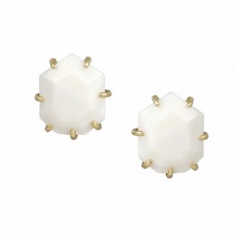 Ladys Yellow 14 Gold Plate Morgan W- White Mop Earrings