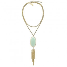 Ladys Yellow Gold Plate Chalcedony Rayne Necklace