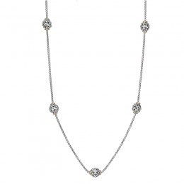 Two-Tone Sterling Silver-18K Necklace