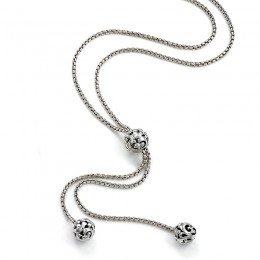 Sterling Silver 3 Bead Necklace
