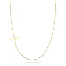 Yellow 14 Karat Jerusalem Cross Chain
