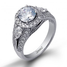 White 18 Karat  Engagement Mounting
