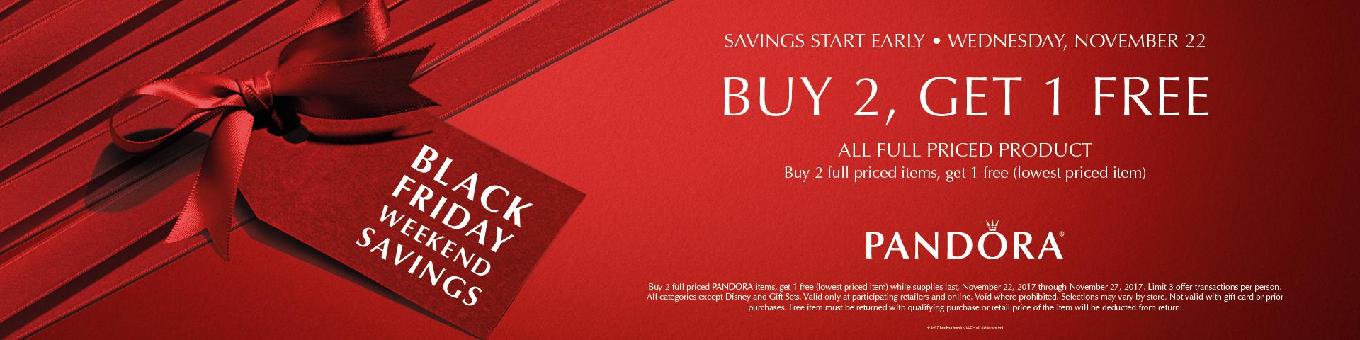 Pandora Black Friday Buy 2 Get 1