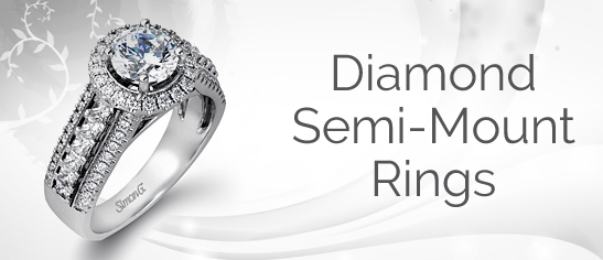 Diamond Semi Mount Rings